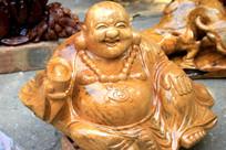 弥勒佛木雕
