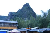 青山翠竹与游客中心