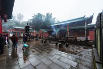 雨后的齐云山太素宫宫观