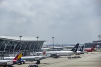 浦东机场客机