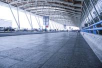上海浦东机场出发层
