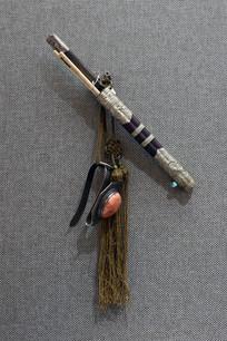 银质蒙古刀
