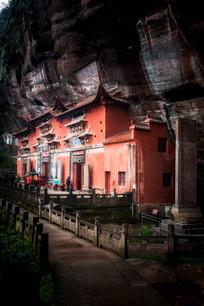 紫霄崖下的玉虚宫建筑