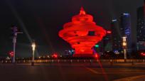 青岛地标建筑五月的风夜景