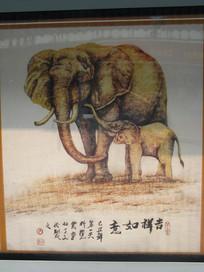保护大象的素描风格广告
