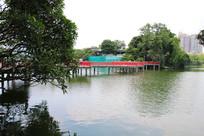 广州东山湖公园九曲桥