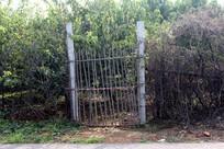 农村生态园的栅栏门