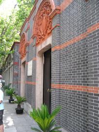 一大旧址外墙和浮雕花