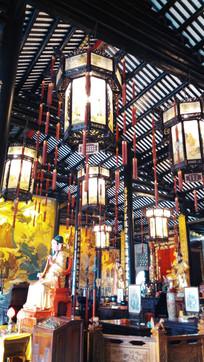 灯笼装饰古建筑图片