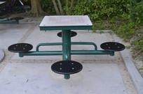 公园连体桌椅