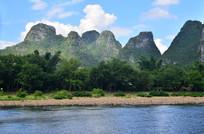 蓝天白云青山绿水风景图片