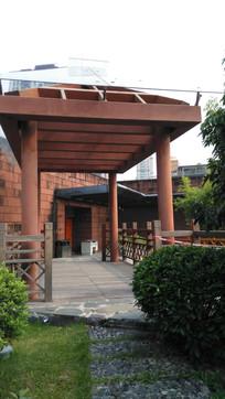 南粤黄博物馆庭院古建筑