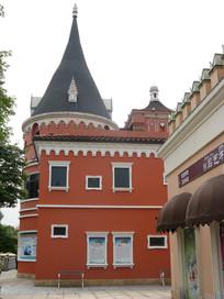 欧式古堡尖顶建筑