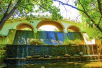 千山龙潭复拱式三孔石桥