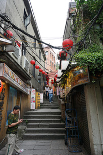 台湾九份山城山路