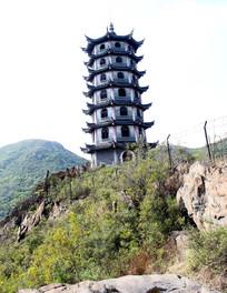 唐李庵山上的杏林塔