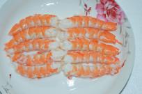 已剥壳的白脚虾