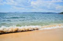 大海海浪沙滩风景图片