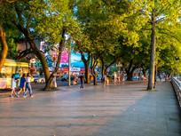 惠州西湖边的人行道