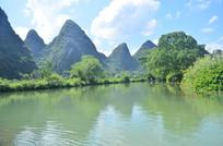 美丽的山水画风景