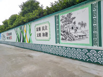 新农村绘画墙