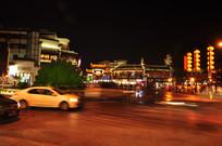 灯光璀璨的城市风光