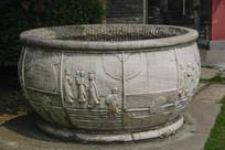 雕刻古代人物大缸