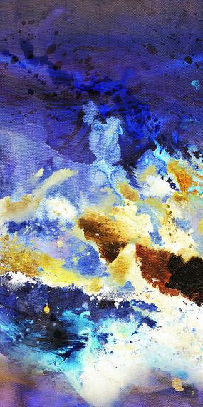 水墨壁画背景墙