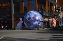 月球玉兔雕塑图片