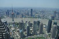 高空俯视上海风光