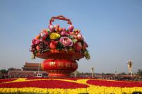国庆节天安门花坛