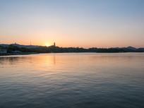 美丽的惠州西湖晚霞景观