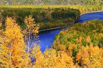 秋季森林河