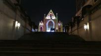 时光贵州教堂夜景