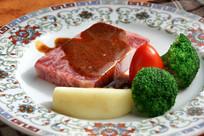 铁板雪花神户牛肉
