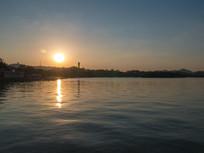 夕阳美景的惠州西湖