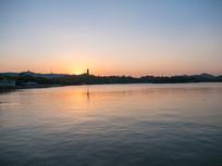 惠州西湖落日景色