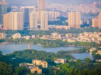 惠州西湖鸟瞰风光