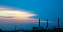 蓝天彩云发电厂