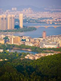 鸟瞰惠州东江景色