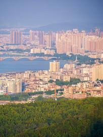 鸟瞰惠州东平建筑风光