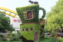 茶杯与蚂蚁树木造型