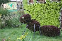 蚂蚁枝叶造型