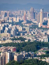 鸟瞰惠州城市风光
