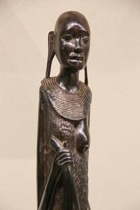 非洲木雕长耳非洲少女