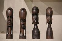 非洲木雕女人头像