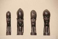 非洲木雕少女的头像