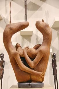 非洲木雕兽头人身