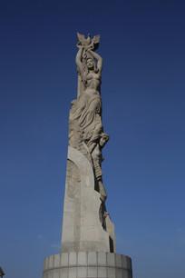 欧洲洲女神雕像柱