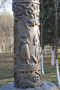石雕雕非洲女人